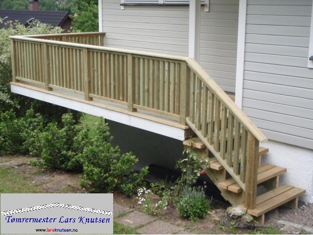 Rekkverk og trapp