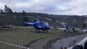 Helikoptertransport av Tømrermester Lars Knutsen