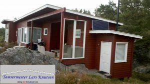 Inngangsparti av Tømrermester Lars Knutsen